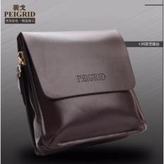 Tas Pria Batam Kulit Selempang Batam Multifungsi PU Leather Peigrid - Coklat