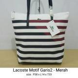 Beli Tas Tote Bag Wanita Tas Selempang Motif Horizontal Merah Premium Kredit Indonesia