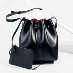 Korean Fashion Style Tas Wanita Batam Charm Free Multifunction Pouch Import - Hitam