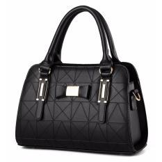 Harga Tas Wanita Fashion Woman Branded Pu Leather Handbags Import Korean And Japanese Ladies Style Black Hitam Origin