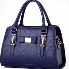 Ongkos Kirim Tas Wanita Fashion Woman Branded Pu Leather Handbags Import Korean And Japanese Ladies Style Navy Blue Biru Dongker Di Indonesia