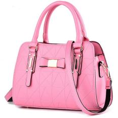 Tas Wanita Fashion Woman Branded Pu Leather Handbags Import Korean And Japanese Ladies Style Pink Merah Muda Jambu Hangkingkong Diskon 30