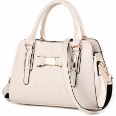 Tas Wanita Fashion Woman Branded Pu Leather Handbags Import Korean And Japanese Ladies Style White Beige Putih Hangkingkong Diskon 40