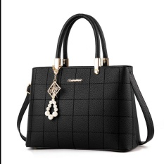 Ulasan Tas Wanita High Quality Pu Leather Black