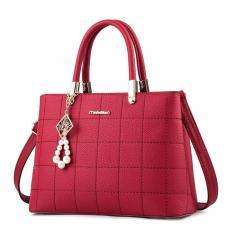 Jual Tas Wanita High Quality Pu Leather Red Di Riau Islands