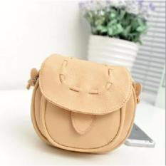 Korean Fashion Style Tas Wanita Batam Model Retro Handbag Candy Color Import - Cream