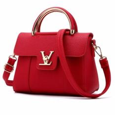 Tas Wanita Korean High Quality Bag Style Merah Jawa Barat Diskon