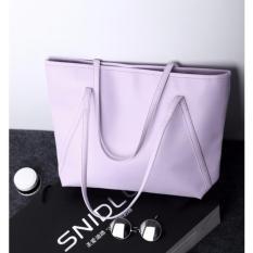 Promo Tas Wanita Kulit Fashion Pu Women Leather Tote Bag Handbags Shoulder Bags Ungu Akhir Tahun