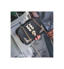 tas wanita KULIT import fashion hitam grosir medan SLINGBAG handbag pe