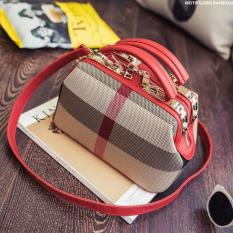 Tas Wanita Model Doctor Material PU+Kanvas-Red