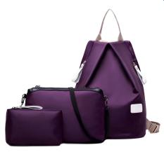 Tas Wanita Batam Branded Selempang Terbaru 3 pcs Waterproof Nylon Oxford Bags Backpack