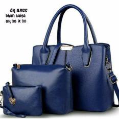 Tas Wanita Paket 3 in 1 - High Quality PU Leather Korea Elegant Bag Style