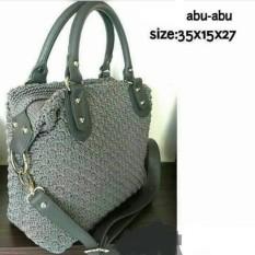 Tas Wanita Rajut Handbag Fashion Rose Grey Handmade Asli Jogja