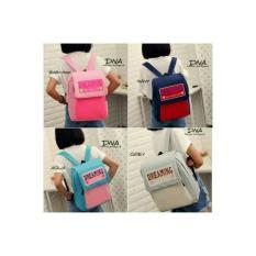 tas wanita ransel remaja anak gaul kotak korea backpack bagpack unik