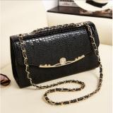 Jual Korean Fashion Style Tas Wanita Selempang Clutch Sling Bag Crossbody Import Hitam Murah Indonesia