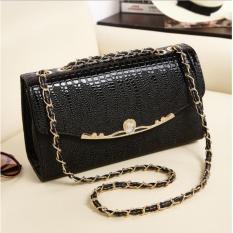 Harga Korean Fashion Style Tas Wanita Selempang Clutch Sling Bag Crossbody Import Hitam Terbaru