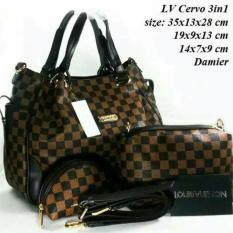 Tas Wanita Tas Fashion Murah-Tas Pesta Trendi-Tas Hand Bag-Tas Branded-Lv Cervo - Promo Terbatas