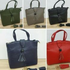 Tas Wanita Tas Hand Bag Fashion Wanita Premium 8016 Kulit Asli Import Hongkong - Promo Terbatas