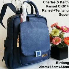Tas Wanita Tas Wanita/Tas Murah/Tas Kw Semi Super/Charles Keith Ransel/Navy - Promo Terbatas