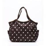 Spek Tas Wanita Tote Bag Fancy B 822 06 Brown Polkadot