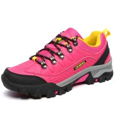 Harga Tauntte Outdoor Hiking Sepatu Wanita Sport Mendaki Sepatu Pink Baru Murah