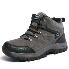 Promo Tauntte Wanita Hiking Sepatu Suede High Cut Kolam Mendaki Sepatu Babi Ukuran Abu Abu Intl Tauntte