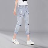 Toko Tb Rusak Lubang These Butterflies Bordir Wanita Celana Jeans Longgar Sembilan Biru Muda Internasional Terlengkap Tiongkok