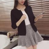 Beli Tb Korea Korea Fashion Pendek Longgar Sweater Cardigan Hitam Intl Secara Angsuran