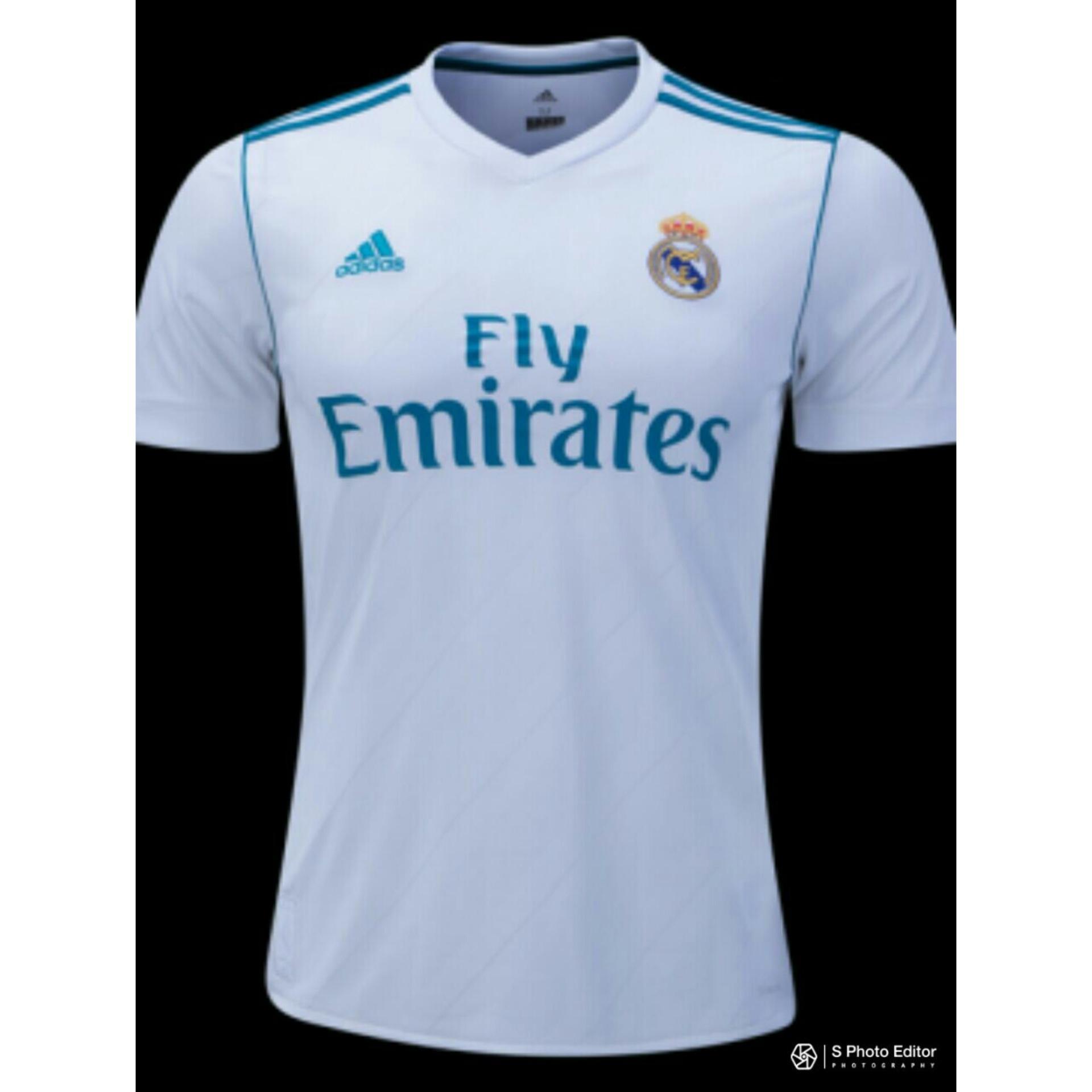 setelan olahraga kaos bola jersey futsal baju volly mizuno abstrak stabilo. TBK - Jersey Bola Kaos T-shirt Bola Madrid 20017/2018