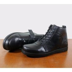 Harga Tbp Sepatu Boots Kulit Pria Wolf Golden Original Hight Quality Hitam Murah