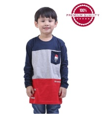 Promo Tdlr Kaos T Shirt Anak Laki Laki Biru Kombinasi Tbn 0221 Jawa Barat