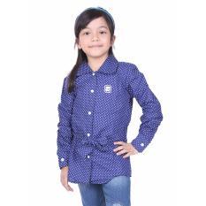 Ongkos Kirim Tdlr Kemeja Lengan Panjang Anak Perempuan G*rl Shirt Bahan Cotton Polka Navy Tgg 1011 Di Jawa Barat
