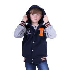 TDLR TGL 2262 Jaket Hoodie Casual Laki-laki - Fleece - Bagus (Biru Kombinasi f2a28e9ed6