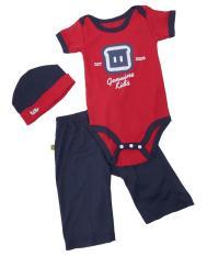 TDLR TGP 0721 baju stelan bayi - bahan cotton combed - lucu dan bagus (Red)