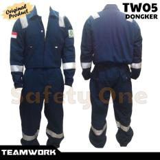 Teamwork Tw05 Coverall Anti Api Dongker - Wearpack Baju Kerja Safety - Fvftno