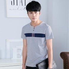 Toko Sepuluh Bintang 2017 Korea Versi Baru Musim Semi Dan Musim Panas Pria T Shirt Lengan Pendek Cotton Men S Printing T Shirt Intl Online