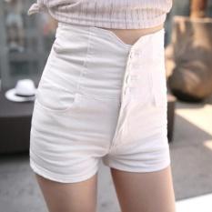 Beli Sepuluh Bintang Korea Pinggang Panjang Denim Wanita Musim Panas Tipis Ukuran Besar Tipis Celana Pendek Lemak Mm Siswa Celana Tide Putih Intl Online Terpercaya