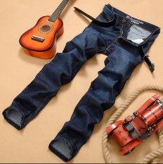 Sepuluh. F 2017 New Jeans Pria, Setengah Baya Lurus Eropa dan Amerika Mikro Elastis Pria Denim Celana Panjang, Musim Semi dan Musim Panas Kasual Pria Pakaian-Intl