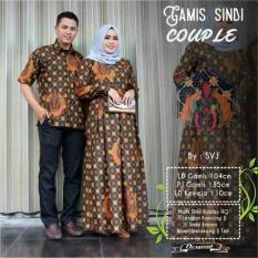 Terbaru!! Baju Batik Solo. Batik Ayusari. Couple Gamis Batik Sindi