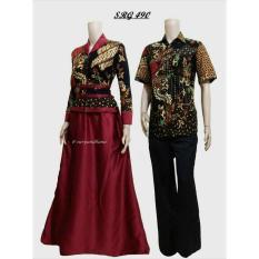 Terbaru!! Sarimbit Batik Solo. Couple Gamis Batik Alena Series