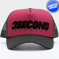 Terbaru Topi Original 3Second Maroon Black 1160 - Kdstr