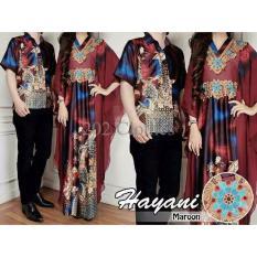 Terbatas Couple Kaftan Hayani Marun- Sarimbit Batik Baju Pesta Pasangan Terbaru