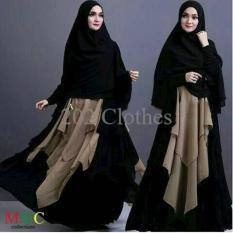 Terbatas Keke Hitam- Baju Muslim Gamis Maxi Syari Keke Black Termurah