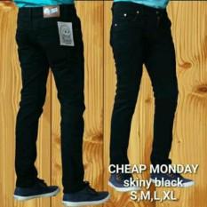 Tips Beli Terlaris Bro Celana Panjang Jeans Skinny Pensil Hitam Black Yang Bagus