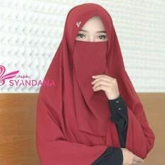 Sosialhijab Cadar Tali Niqab Niqob Wolfis Wolpeach Kualitas Premium - 1 Layer