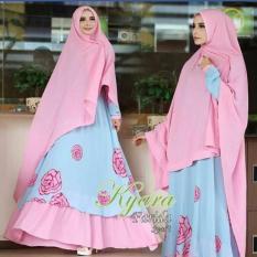 TERLARIS!!! [Farida syari pink SL] gamis wanita spandex sutra pink / baju muslim wanita / baju muslimah / baju muslim wamita terbaru / baju muslim murah