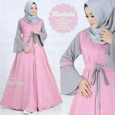 TERLARIS!!! [MAXI MARBELA PEACH SL] maxi wanita balotely salem / baju muslim wanita / baju muslimah / baju muslim wamita terbaru / baju muslim murah