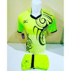 [ TERLARIS MZ 03 IJO ] Baju Kaos Olahraga Jersey Bola Setelan Futsal / Volly Mizuno