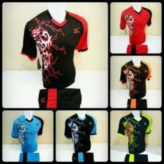 [ TERLARIS MZ 04 ] Baju Kaos Olahraga Jersey Bola Setelan Futsal / Volly Mizuno