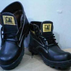 TERLARIS Sepatu Pria Boots Safety TERMURAH Sepatu Caterpillar Boot Safety Kulit Licin 1 Original